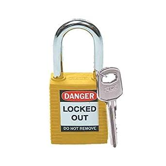 Brady 99570, candado de seguridad, amarillo (Pack de 10 unidades): Amazon.es: Amazon.es