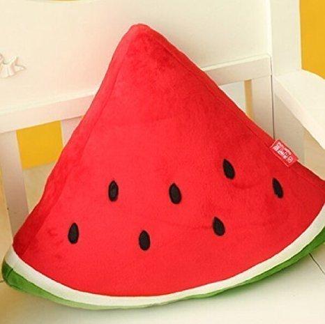 Etrony Decorative Watermelon Throw Pillow Sofa Cushion Plush Stuffed Toy