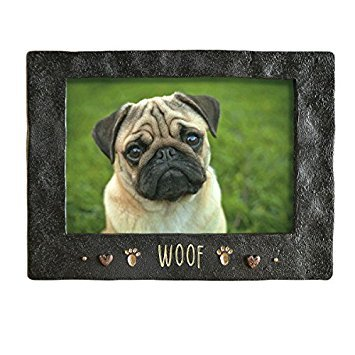 Grassland Road Woof Dog Pet Cement Photo Frame Picture
