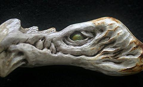 Bone Deer Antler Carving Dragon Eerie Creepy Scary Horror Weird Sculpture Monster Talisman Gothic - Antler Carving