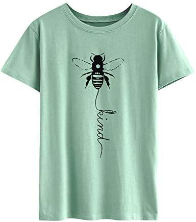 Dresswel damska koszulka z krÓtkim rękawem, okrągły dekolt, koszula z motywem pszczÓłki, koszulka na lato: Odzież