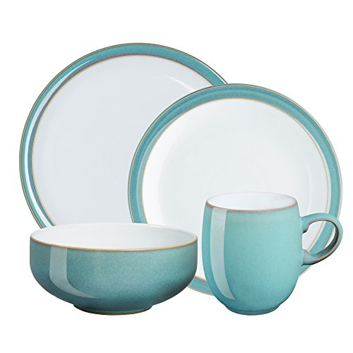 Denby Azure 4-Piece Place Setting, Blue