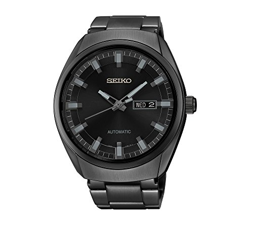 Seiko-Mens-Black-Ion-Finish-Automatic-Date-Calendar-Watch