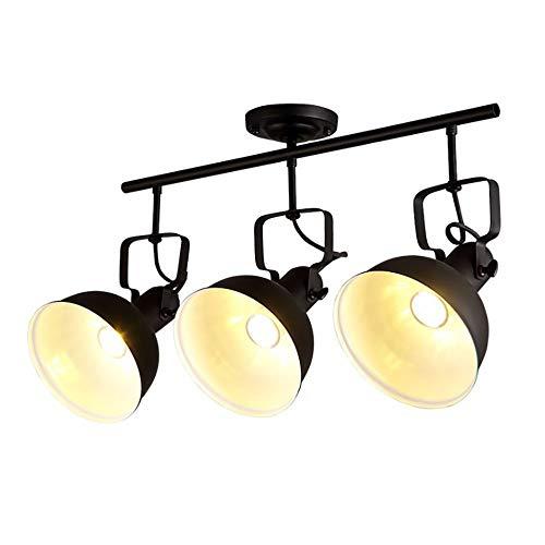 Jiafum Luces de Mesa de Billar Negras rusticas, arana de Sombrero de Metal Industrial para Sala Comedor Mesa de Billar Luces de Isla (Disponible en una Variedad de Estilos),C