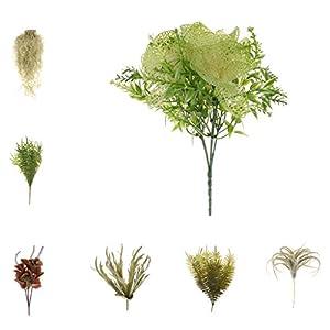 Homyl Bunch Artificial Plants Seaweed Garden Wedding Decor Phalaenopsis/Vine/ Persian Grass/Perilla Leaves/Staghorn Fern/Sago Cycas Leaves/Air Grass 6