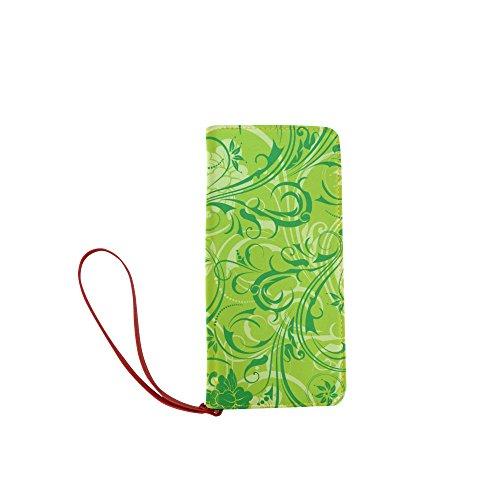 Price comparison product image Women's Vintage Floral Print Clutch Wallet Purse with Wrist Strap