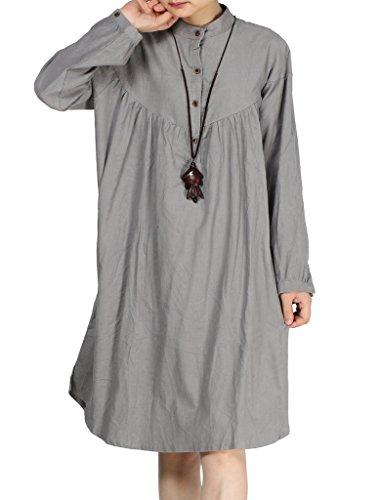 MatchLife - Vestido - para mujer Style1-Grey