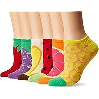 6 Pack Novelty No Show Socks