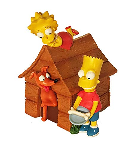 (The Simpsons Bart and Lisa with Santa's Little Helper and Doghouse Coin Bank)