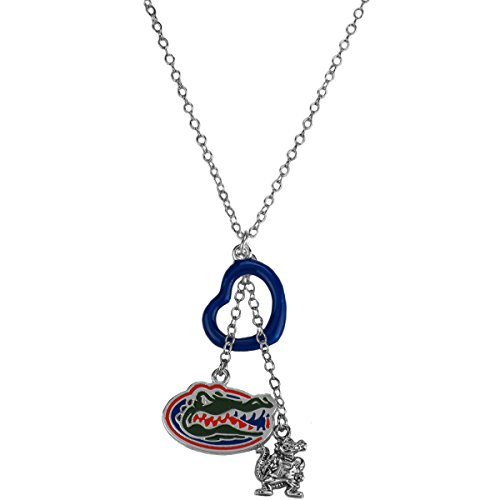 Rosemarie Collections Women's Florida Gators Heart Pendant Charm Necklace