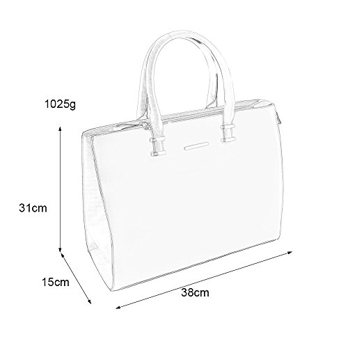 Leather YOUNG Strap Simple Handbag Elegant Style Tote Red Square Fashion SALLY with Large Women Women Shoulder z4n6Tcqpd
