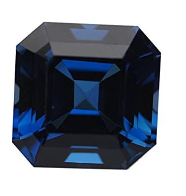 Blue Lab Sapphire Square Octagon Facet Unset 9mm by uGems