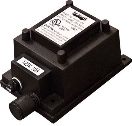 Dabmar Lighting LVT100-A 100W Buck Boost Transformer with Power cord, Black Finish by Dabmar Lighting