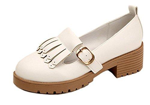 Ragazza della sorgente in ascensore scarpe con i pattini spessi del tallone scarpe in pelle di studenti di sesso femminile in scarpe single primavera e in autunno delle donne , US6 / EU36 / UK4 / CN36