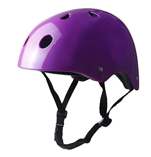 Tourdarson Adult Skateboard Helmet Specialized Certified Protection Sport for Scooter (Girl Black Helmet)