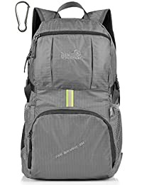 LARGE! 35L! Outlander Packable Handy Lightweight Travel Backpack Daypack+Lifetime Warranty (New Grey)