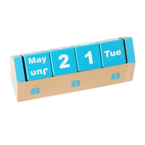 For Room School Desktop Decoration Wooden Perpetual Table Desk Calendar Schedule by PONML (Image #4)