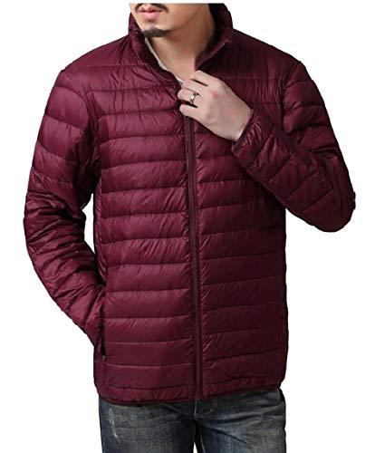 TTYLLMAO Men's Ultra-Lightweight Packable Outwear Down Jacket Coats Wine Red