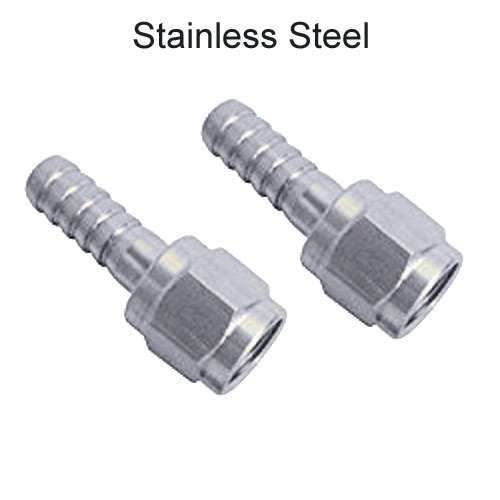 MFL Swivel Nut and Barb Set of 2 - Stainless Steel (Select the right size) (1/4 BARB ON BOTH) Chill Passion Inc.