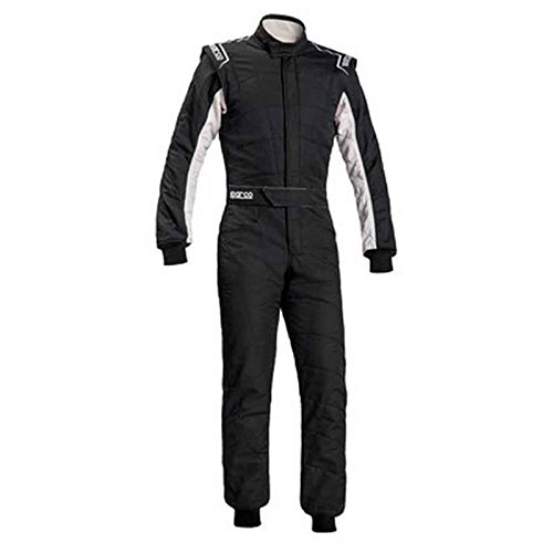 Negro//Blanco 48 Sparco 00109148NRBI Mono para Racing