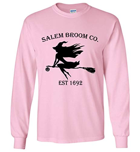 Halloween Salem Broom co est 1692 Gift Idea Long Sleeve Adult and Youth Size