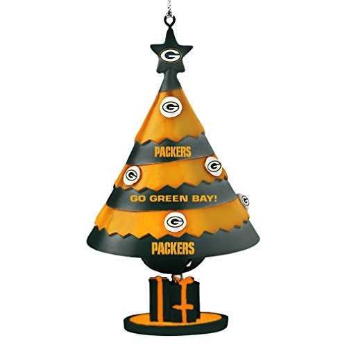 Bell Holiday Ornament - NFL Green Bay Packers Tree Bell Ornament