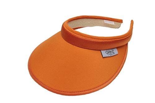Glove It Women's Solid Visor, Orange, ()