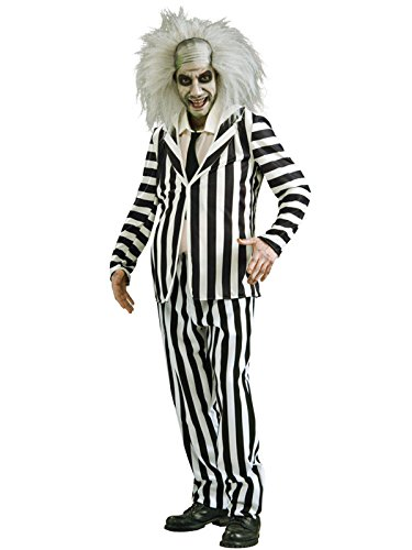 Beetlejuice Costume, Black/White, X-Large ()
