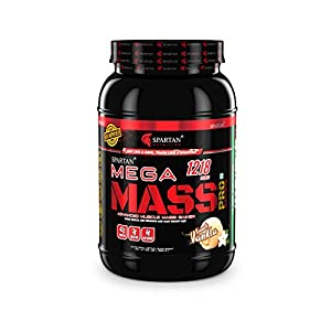 Spartan Nutrition Mega Mass Pro Series Weight/Mass Gainer Protein Sports Supplements – 2.2 LBS, French Vanilla