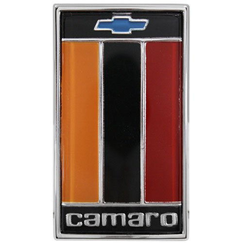 Trim Parts 6844 Front Header Panel Emblem (1975-1977 Camaro Orange Black Red)