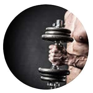 alfombrilla de ratón Brazo muscular con pesas - ronda - 20cm
