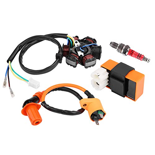 Ignition Coil, Racing Ignition Coil CDI Spark Plug Magneto Stator for 125cc 150cc Moped Scooter:
