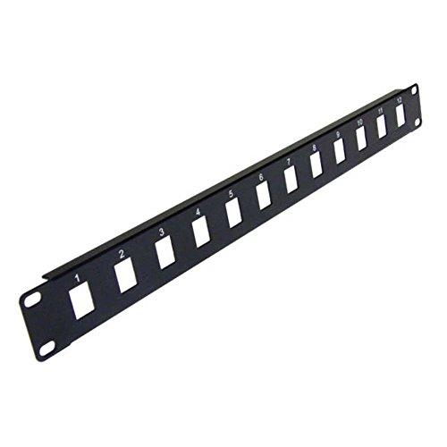 PAPE, 12-Port Keystone Jack Blank Patch Panel Plate Cat5e Cat6 RJ45 19