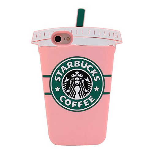 Pink Starbucks Coffee Cup Case for iPhone 7 8 iPhone7 iPhone8 Regular Size 4.7