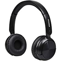 Sylvania SBT235-Black Bluetooth Wireless Headphones with Microphone, Black (Certified Refurbished)