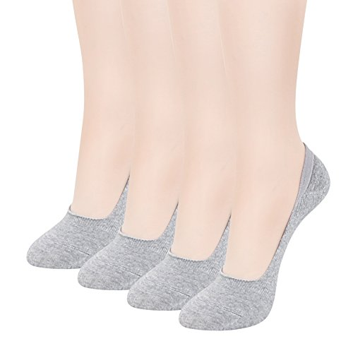 Women's No Show Socks 4 Pairs - Best Low Cut Cotton Socks by Sockspree - Sh Best