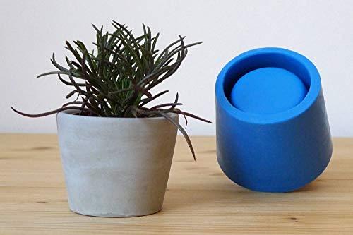 Concrete silicone mold for small cone planter