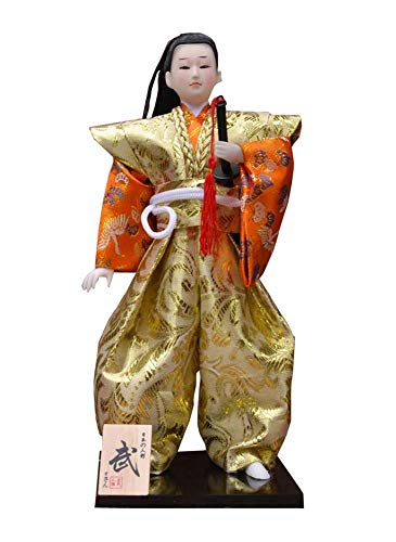 (East Majik Japanese Unique Samurai Vintage Sushi Bar Decor Doll Figurine H)