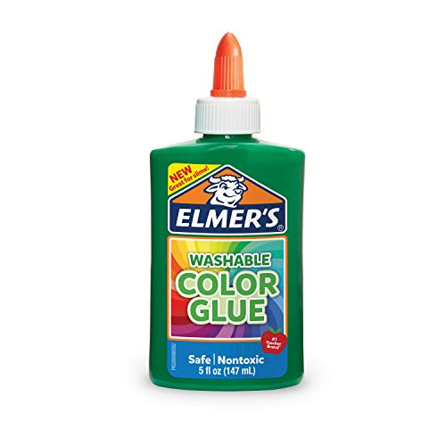 Elmer's Washable Color Glue, Green, 5 Ounces, Great for Making Slime