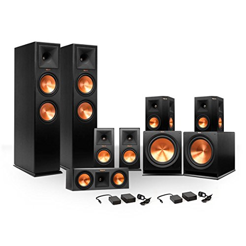 Klipsch 7.2 RP250 Premiere Speaker Bundle w/ Subs/FREE Wirel