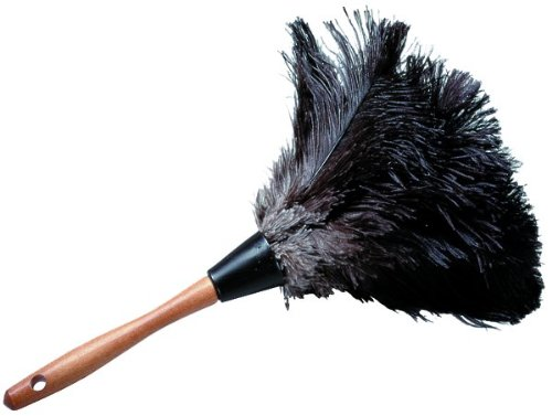 Impact 4600 Premium Ostrich Feather Duster, 20'' Length, Gray/Black (Case of 12) by Impact Products