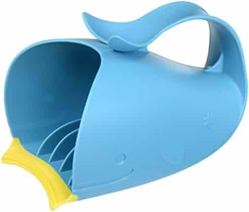 Moby Bath Tear-Free Waterfall Rinser Bath Cup, Blue