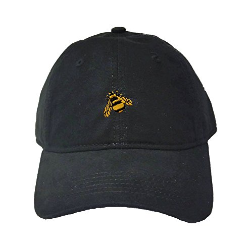 Go All Out Adjustable Black Adult Bumble Bee Embroidered Deluxe Dad Hat