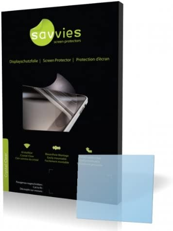 Protective Film 100/% fits Savvies Crystalclear Screen Protector for Rollei Compactline 350 Display Protection Film