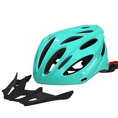 DYM258 Bike Helmet Lightweight One-Piece Process Sun hat Diversion Design Safety Protection Suitable for Field Road Bicycle Mountain Cycling MTB Men&Women,Green