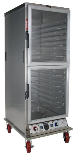 - Lockwood CA71-PFIN-CDD-R Aluminum Full Height Insulated Mobile Proofing and Holding Cabinet with Universal Tray Supports and Clear Dutch Door, 35 Pan Capacity, 28-1/2