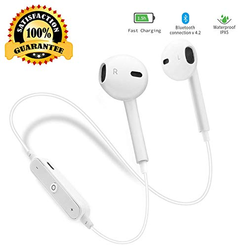 Wireless Bluetooth Headphones, Bluetooth IPX5 Waterproof Sport Earphones, Stereo Wireless Earbuds, Bluetooth Headsets with Mic, Noise Cancelling Earbuds for Smartphones, Best Sport Wireless Earbuds.