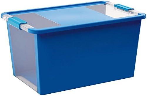 KIS 8454000 0454 01 Bi Box-Caja de almacenaje plástico, 40 L, Color Azul y Transparente: Amazon.es: Hogar
