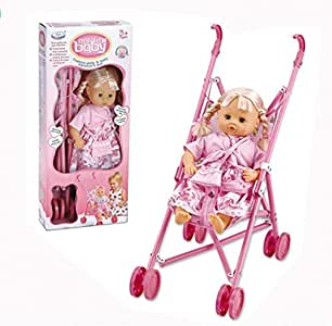 Baby Doll Girl 16 Inch With Metal Trolley