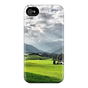 Mwaerke Snap On Hard Case Cover Country Road Thru A Beautiful Alpine Valley In Summer Protector For Iphone 4/4s by lolosakes